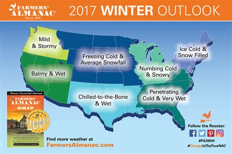 farmers almanac 2016 farmers almanac releases national winter 2017 winter prediction balmy and wet in the west