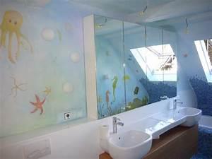 Wandbilder Für Badezimmer : bad badezimmer gestaltung wandmalerei wandgestaltung berlin ~ Frokenaadalensverden.com Haus und Dekorationen
