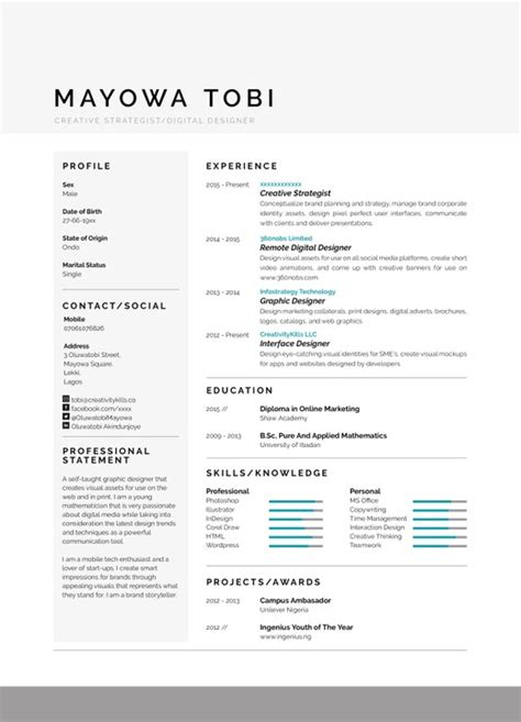 How To Type Out Your Resume by This Type Of Resume Can Get You Invites Stand Out Vacancies Nigeria