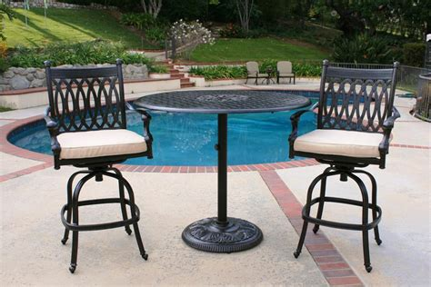 beautiful outdoor high bistro table and chairs patio patio