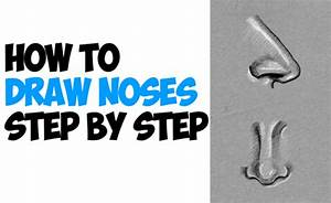 How to Draw Noses from the Side and Front View : Drawing ...