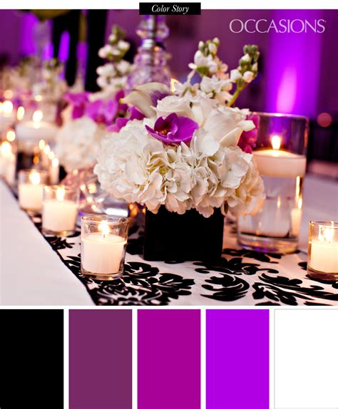 Quinceanera Decorations Ideas 2014 by Sophisticated Black White And Purple Quinceanera The