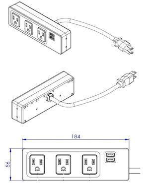 clamp mount power bar richelieu hardware