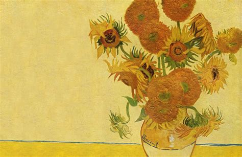 sunflowers  van gogh art wall mural muralswallpapercouk