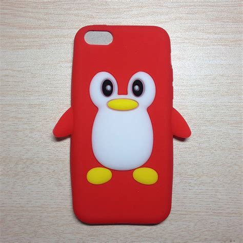 3d iphone 5s cases 3d penguin silicone cover shell for apple iphone