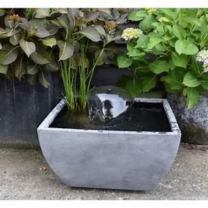 Pompe Pour Jet D Eau Fontaine : mini bassin vi gris 55x55x30cm avec pompe jet d 39 eau ~ Premium-room.com Idées de Décoration