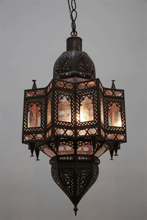shaped light fixture large moroccan shape light fixture at 1stdibs