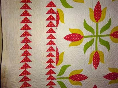 Applique Sawtooth Tulips 19th Quilt Hollow Quilts