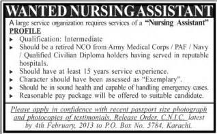 Nursing Home Job Advertisement