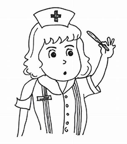 Nurse Coloring Pages Community Helpers Printable Momjunction