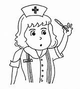 Nurse Coloring Pages Community Helpers Printable Momjunction Little sketch template