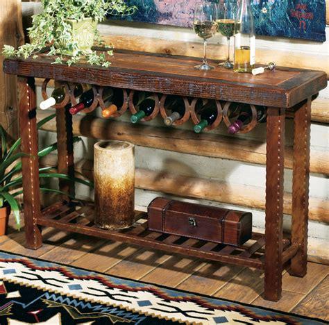 western furniture horseshoe wine rack tablelone star