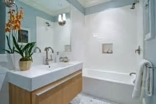 Bathroom Vanity with White Subway Tile