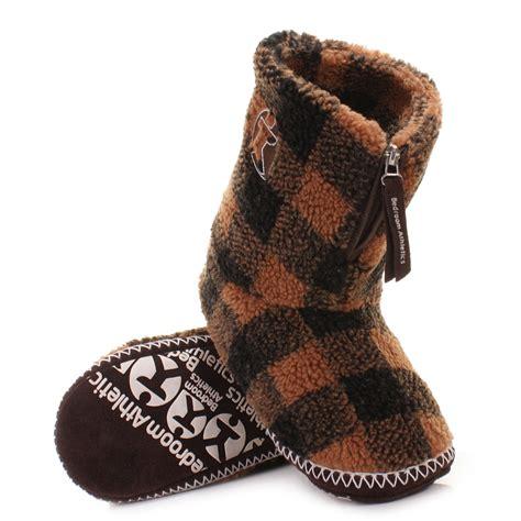high top bedroom slippers mens bedroom athletics mcqueen choc black fleece slipper