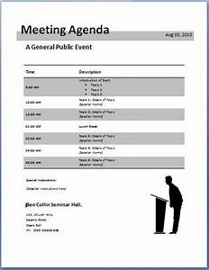 10 formally used agenda templates formal word templates With conference call meeting agenda template
