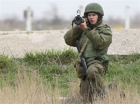 intense video  pro russian soldiers firing warning shots