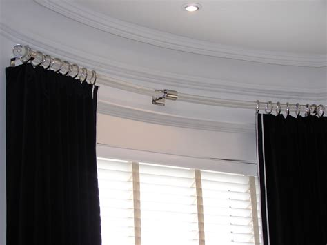 curved curtain rods  bay windows home design ideas
