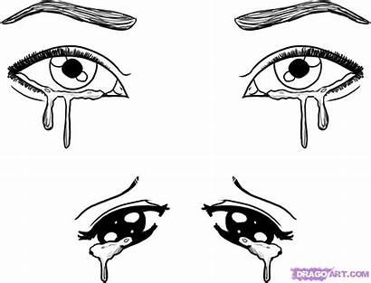 Eyes Crying Draw Step Drawing Steps Tutorial