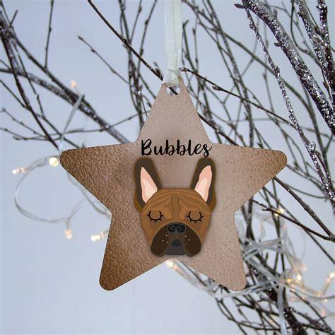 french bulldog christmas decoration personalised