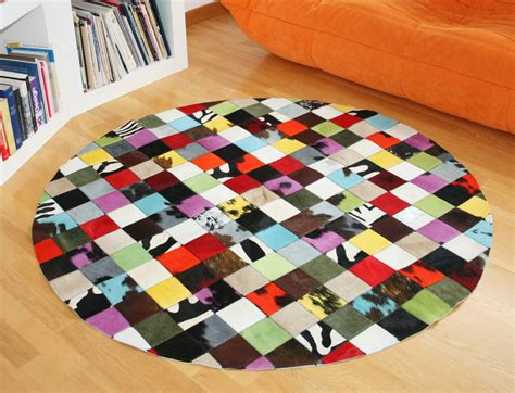 awesome tapis vache patchwork contemporary