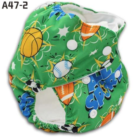 Green All Star Happy Flute Baby Printed Cloth Diapers Us6