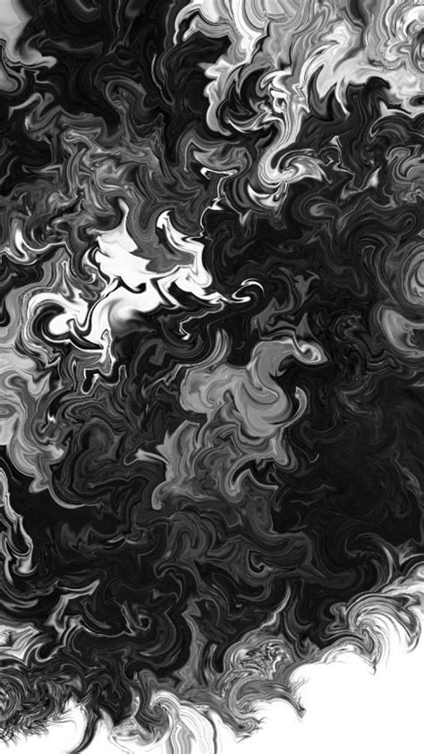 abstract black white smoke hurricane wallpaper