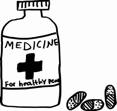 Medicine Pills Bottle Pill Clipart Clip Vector