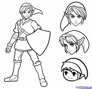 How to Draw Link Easy, Step by Step, Video Game Characters ...