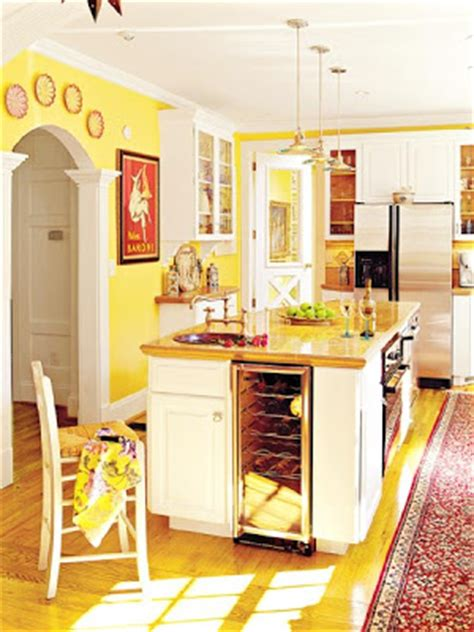 white kitchen cabinets with yellow walls and home daisies butter mellow 2095