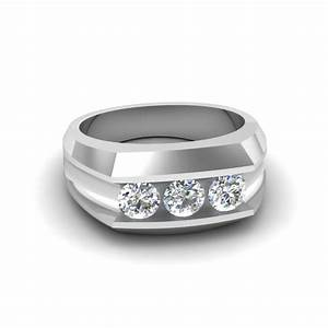 Mens three stone diamond wedding anniversary ring gifts in for Mens wedding rings with stones
