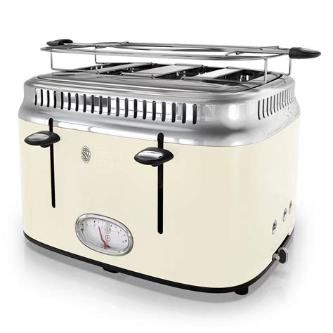 Retro Toaster by Hobbs Retro Style 4 Slice And Stainless