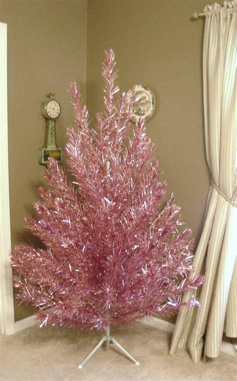 reserved rare vintage pink aluminum christmas tree 6 5