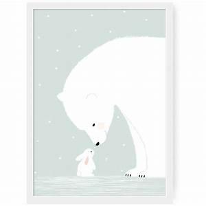 Poster Chambre Bébé : affiche ours polaire z ~ Teatrodelosmanantiales.com Idées de Décoration