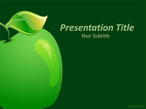 green apple powerpoint template