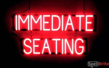 seating signs spellbrite led  neon
