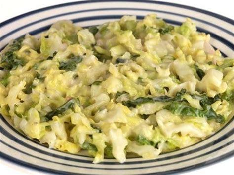 cuisiner du chou vert recette chou vert à la crème 750g