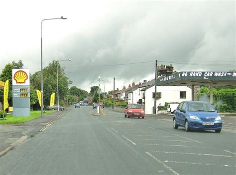 Passing The Shell Garage On The A6 © Ann Cook Geograph
