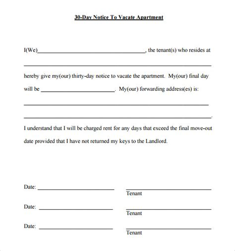 day notice template    documents