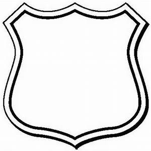 Blank police badge clipart best for Blank police badge template