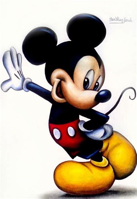 dessin mickey aux crayons de couleurs disney dessins