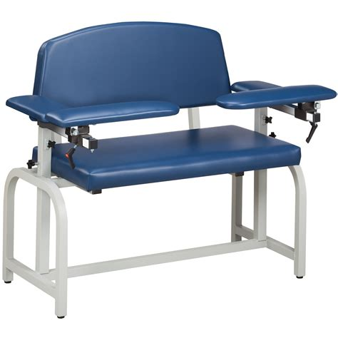 clinton 66000 lab x series wide blood drawing chair