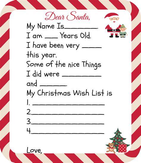 printable santa letters  kids holiday ideas