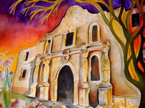 Alamo Night Painting By Brian Stone