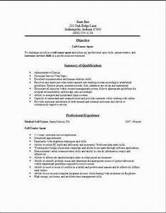 call center resume occupationalexamples samples free With call center agent resume