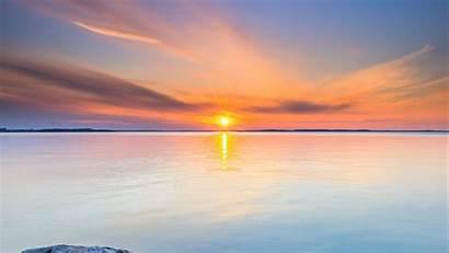Sun Horizon Stones 1080p Fhd Background Hdtv