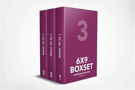 3 Book Box Set Template Without The Box