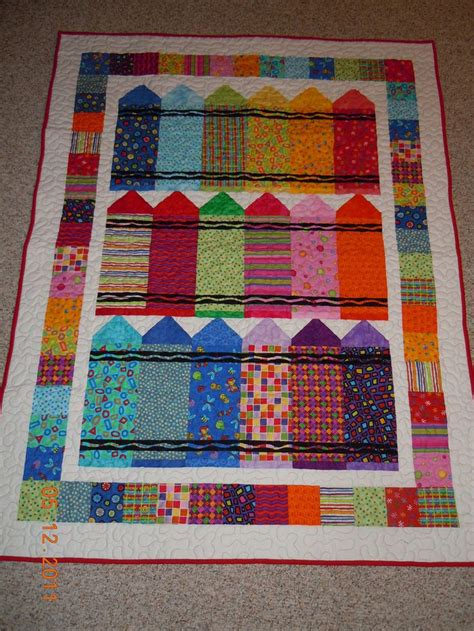crayon quilt quilts children pinterest