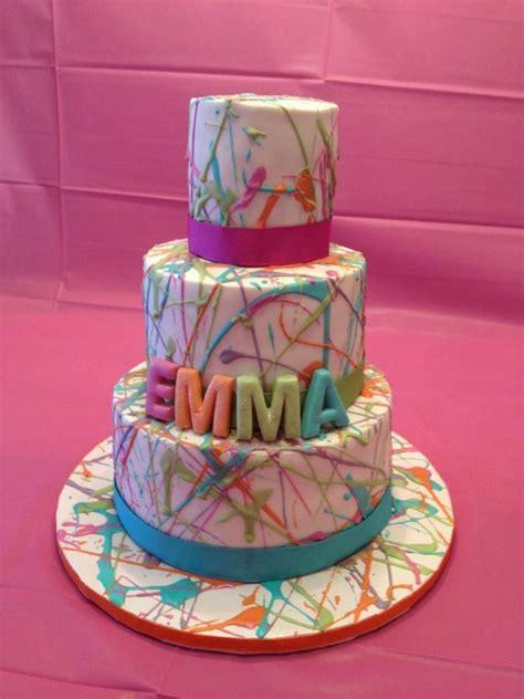 artsy splatter cake      totally