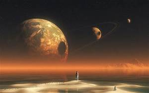 Planets Moons Background Landscapes 1920X1080 - Pics about ...