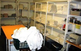hotel linen room  housekeeping department